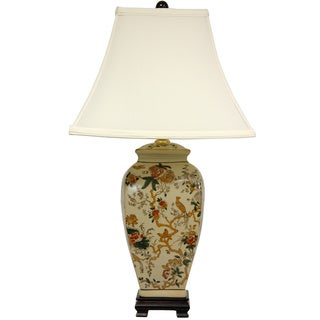 Winter Vine Porcelain Vase Lamp (China)