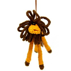 Yarn Lion Ornament (Colombia)