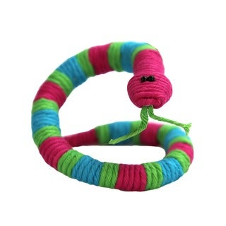 Handmade Yarn Snake Ornament (Colombia)