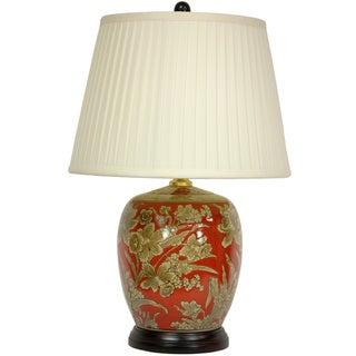 Handmade Floral Bouquet Jar Lamp (China)