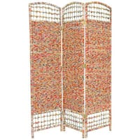 Handmade Recycled Magazine 5.5-foot Tall Room Divider (China)