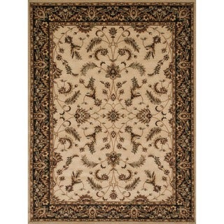 Dorchester Beige/ Charcoal Rug (5'2 x 7'7)
