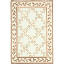 Safavieh Hand-hooked Easy Care Trellis Ivory/ Beige Rug - 2' x 3' - Thumbnail 0