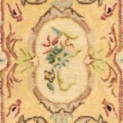 Safavieh Handmade Light Gold/ Beige Hand-spun Wool Rug (2' x 3') - Thumbnail 2