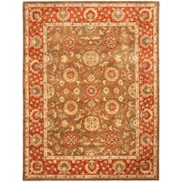 "Safavieh Handmade Heritage Timeless Traditional Beige/ Rust Wool Rug - 9'-6"" x 13'-6"""