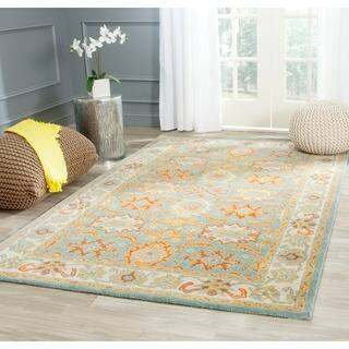 Safavieh Handmade Heritage Timeless Traditional Light Blue/ Ivory Wool Rug (12' x 15')|https://ak1.ostkcdn.com/images/products/6345328/P13966741.jpg?impolicy=medium