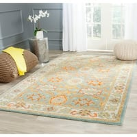 Safavieh Handmade Heritage Timeless Traditional Light Blue/ Ivory Wool Rug - 11' x 17'