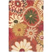 Safavieh Handmade Jardine Summer Rust Wool Rug (2' x 3') - 2' x 3'