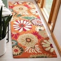 Safavieh Handmade Jardine Summer Rust Wool Rug - 2' X 3'