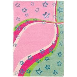 Safavieh Handmade Children's Starlight Pink New Zealand Wool Rug (3' x 5')