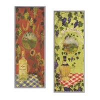 Chianti/Pinot Grigio Plaques Set of 2 Rect