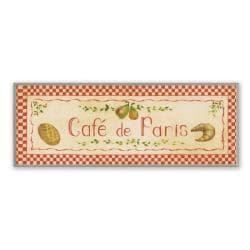 Red Café De Paris Plaque Rect