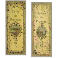 Olives & Herbs Plaques Set of 2 Rect