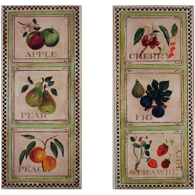 Fruit Plaques Set of 2 Rect - Thumbnail 0