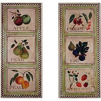 Fruit Plaques Set of 2 Rect