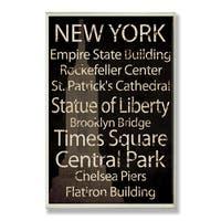 New York Plaque Rect