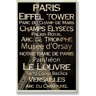 Paris Plaque Rect