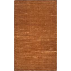 Hand-woven Solid Golden Brown Casual Harwich Rug (8' x 11')