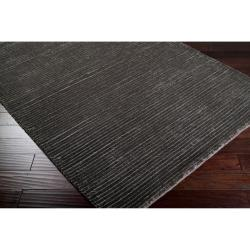 Hand-woven Solid Grey Casual Hastings Rug (8' x 11') - Thumbnail 1