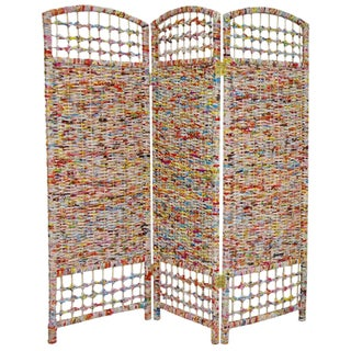 Handmade Recycled Magazine 4-foot Tall Room Divider (China)