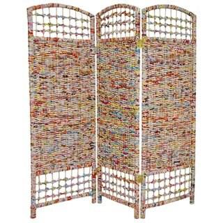 Handmade Recycled Magazine 4-foot Tall Room Divider (China)