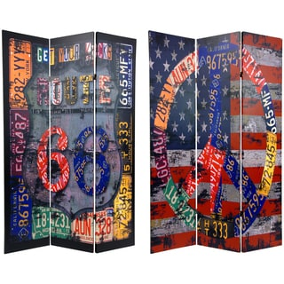 6-foot Tall Double Sided Americana Room Divider (China)