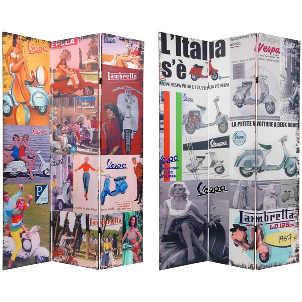 6-foot Tall Double Sided Vespa Room Divider (China)