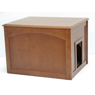 Merry Products Walnut Cat Hidden Litter Box Furniture Bench  Free