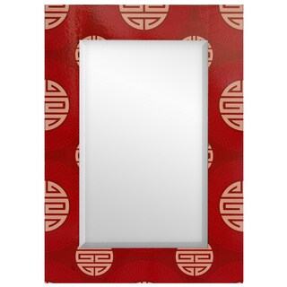 Handmade Red Shou Rectangular Mirror (China)
