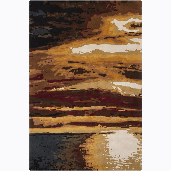 Artist's Loom Hand-tufted Contemporary Abstract Wool Rug (5'3x8')