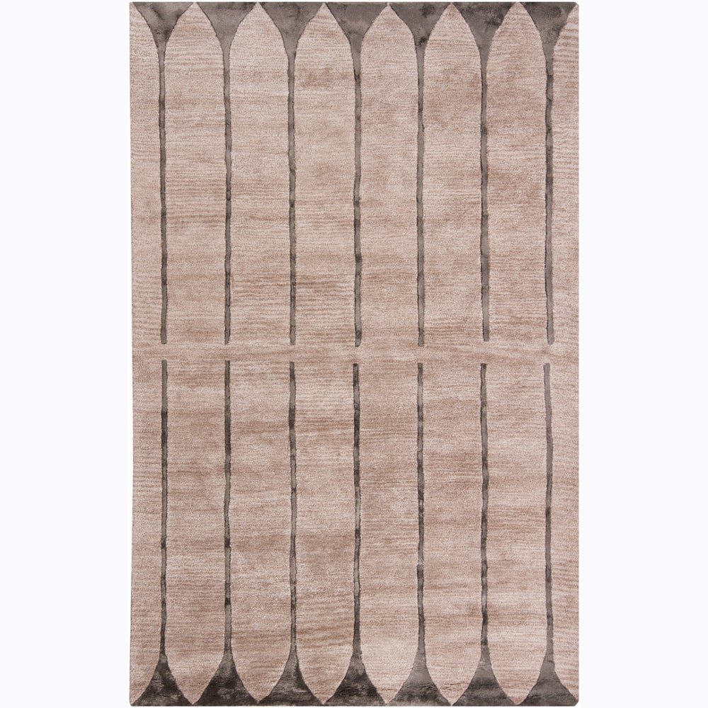 Artist's Loom Hand-tufted Contemporary Geometric Wool Rug - 5' x 8'