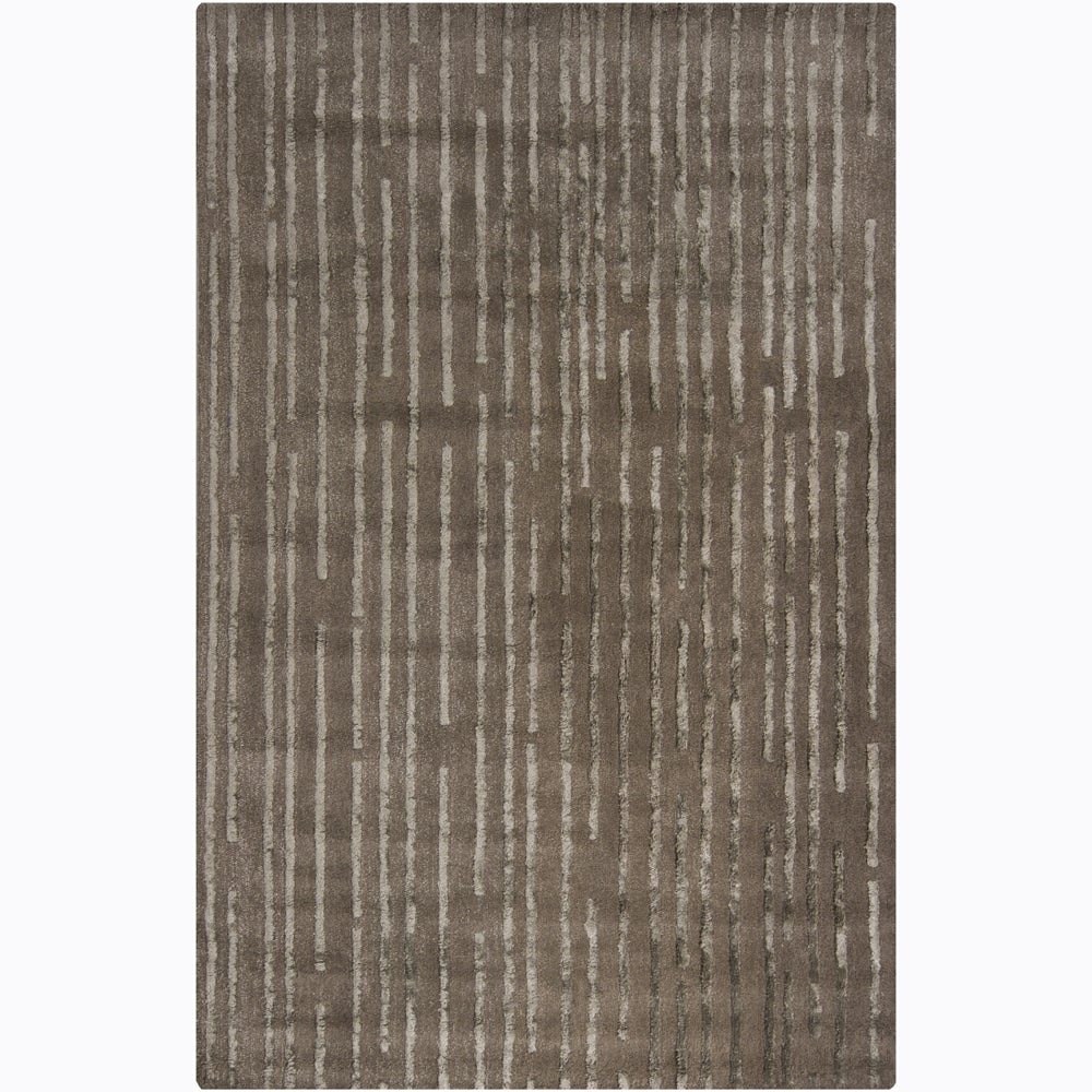 Artist's Loom Hand-tufted Contemporary Geometric Wool Rug (5'x8') - 5' x 8'