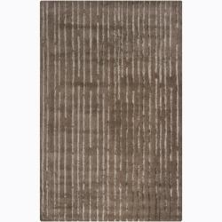 Artist's Loom Hand-tufted Contemporary Geometric Wool Rug (5'x8') - 5' x 8' - Thumbnail 0