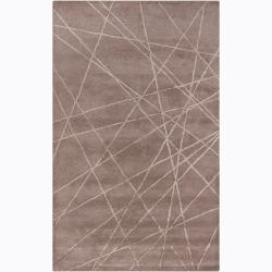 Artist's Loom Hand-tufted Contemporary Geometric Wool Rug - 5' x 8' - Thumbnail 0