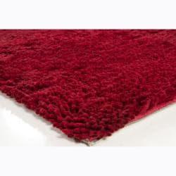 Artist's Loom Hand-woven Wool Shag Rug (3'11x5'7)