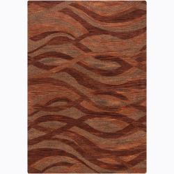 Artist's Loom Hand-tufted Contemporary Geometric Wool Rug (7'9x10'6) - Thumbnail 0