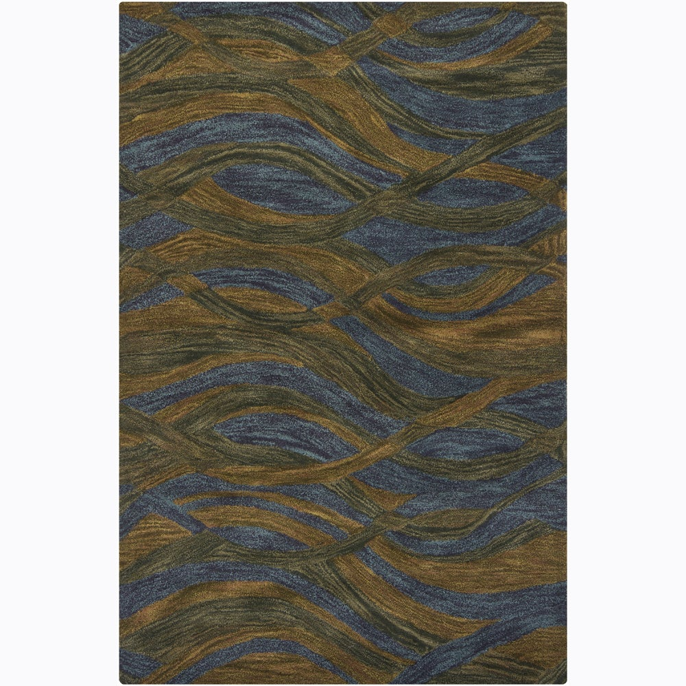Artist's Loom Hand-tufted Contemporary Geometric Wool Rug (7'9x10'6) - 7'9 x 10'6