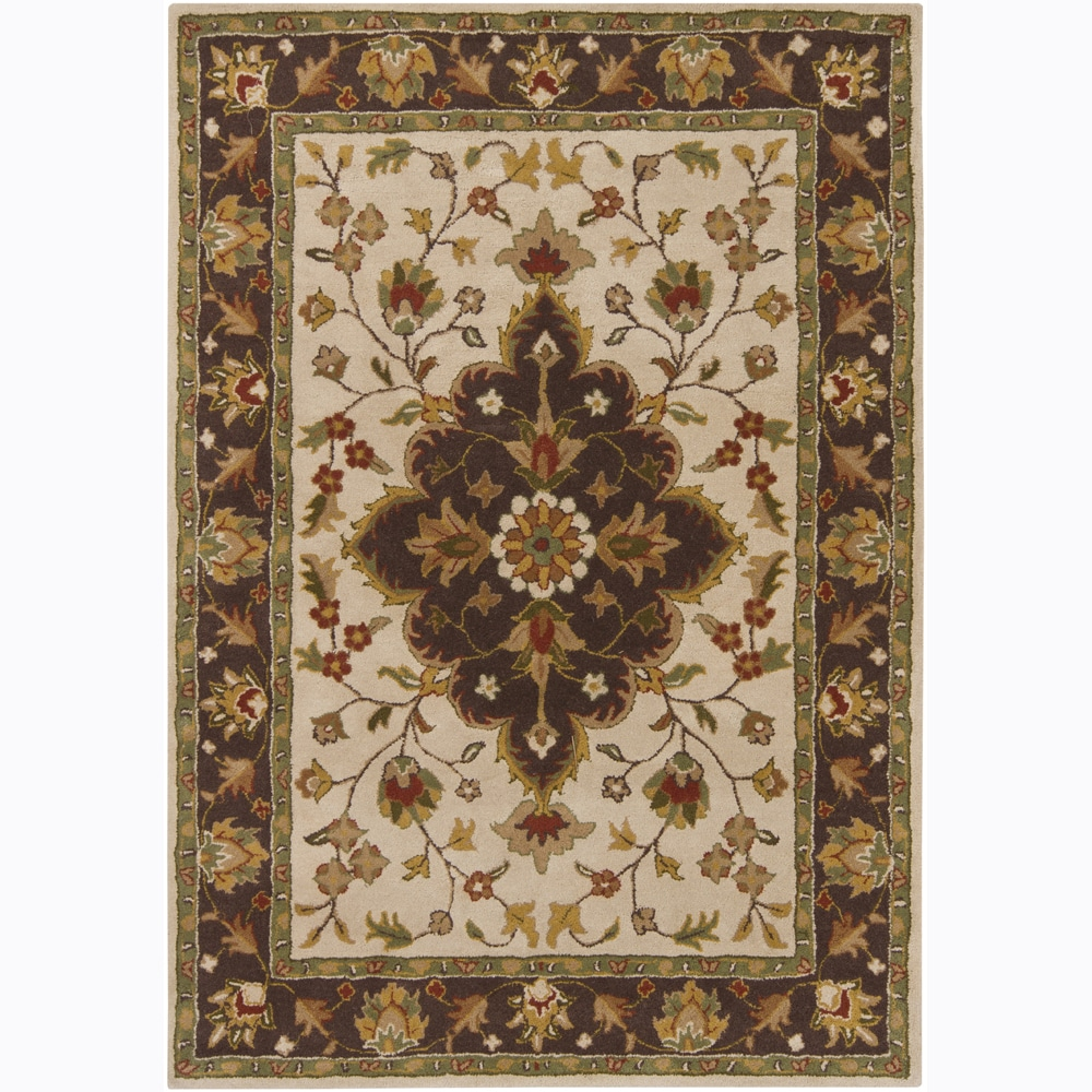 Artist's Loom Hand-tufted Traditional Oriental Wool Rug - 5' x 7'