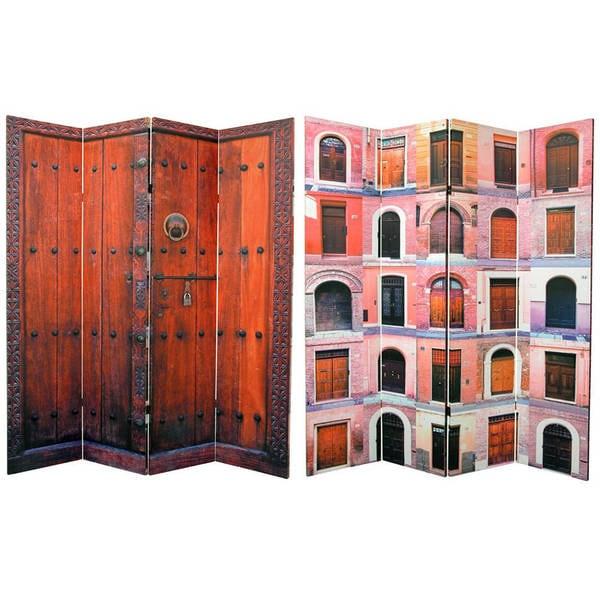 Handmade 6' Canvas Doors Room Divider