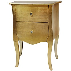 Handmade Gold Leaf Two Drawer Cabinet (China)