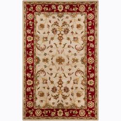 Artist's Loom Hand-tufted Traditional Oriental Wool Rug (5'x8') - Thumbnail 0
