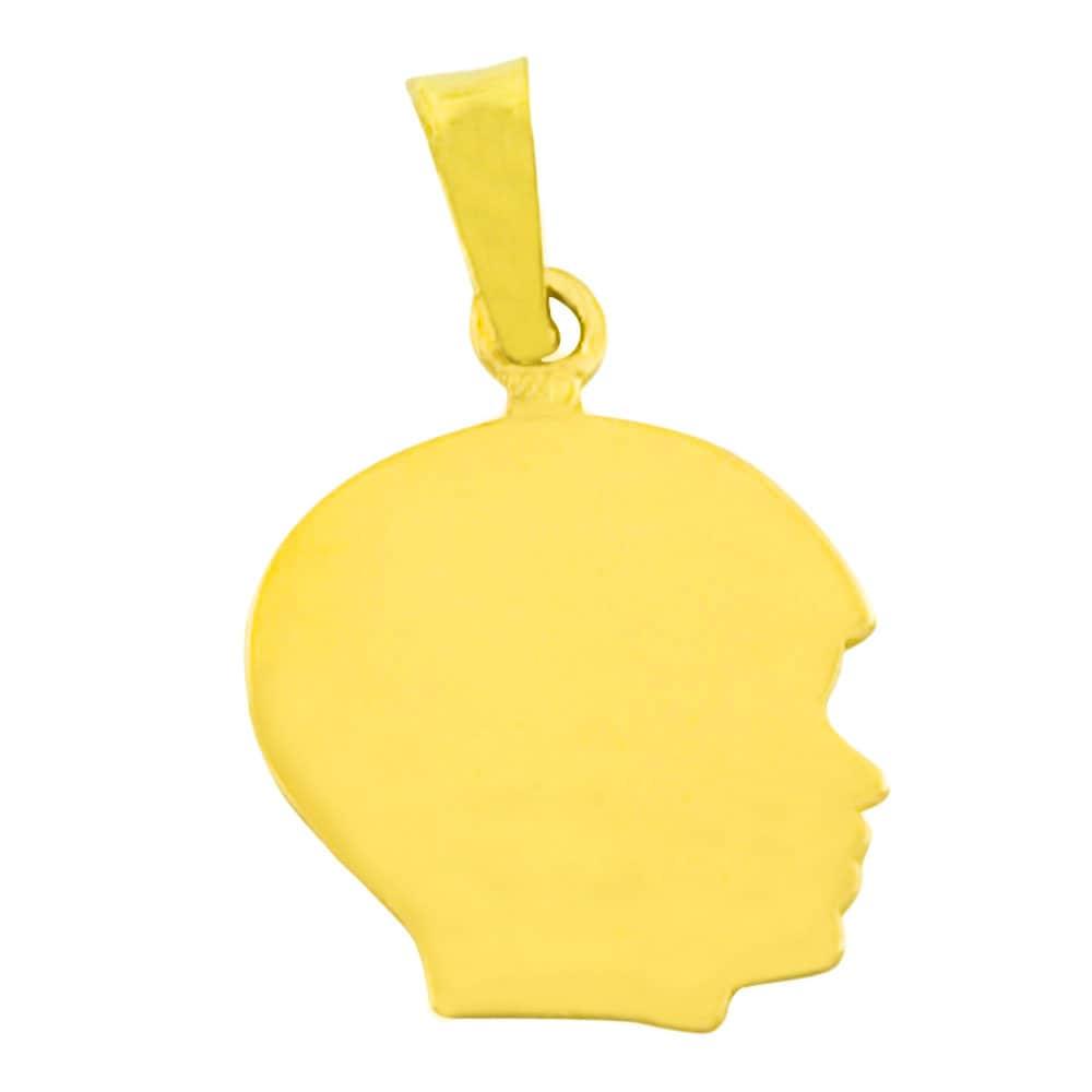 Fremada 14k Yellow Gold Boy Silhouette Pendant