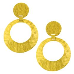Fremada 14k Yellow Gold Graduated Satin Dangle Earrings