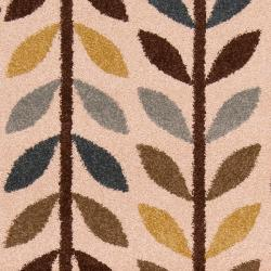 Meticulously Woven Contemporary Brown/Green Floral Frodsham Rug (7'10X10')