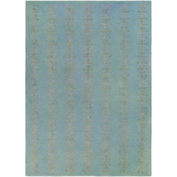 Hand-tufted Pamir Geometric Pattern Wool Area Rug - 8' x 11'
