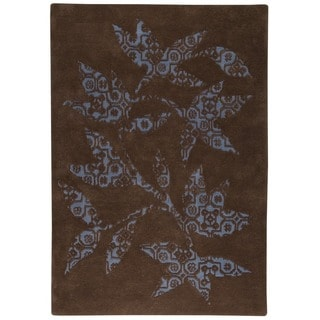 M.A.Trading Hand-tufted Samarkand Brown Rug (4'6 x 6'6)