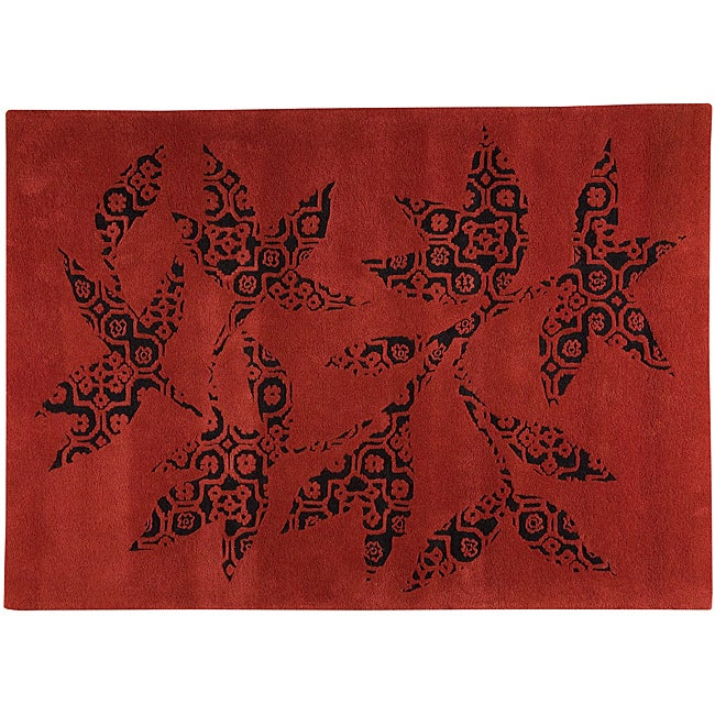 M.A.Trading Hand-tufted Samarkand Red Rug (4'6 x 6'6)