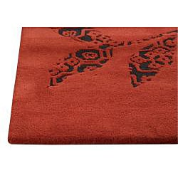 M.A.Trading Hand-tufted Samarkand Red Rug (4'6 x 6'6) - Thumbnail 1