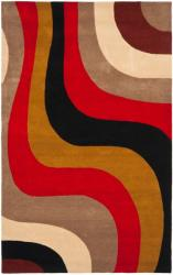 Safavieh Handmade Rodeo Drive Contemporary Abstract Red/ Grey/ Black Wool Rug (5' x 8')