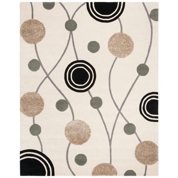 """Safavieh Handmade New Zealand Wool Galaxy Beige/ Grey Rug - 7'6"""" x 9'6"""""""